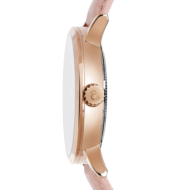 Pink Strap Brooklyn Watch, W45A-PKPKWP-LEPK, hi-res