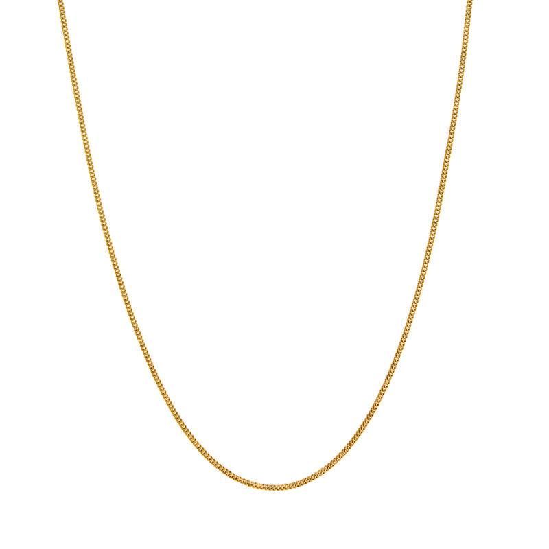 Cadena barbada fina larga oro, J01475-02-80, hi-res