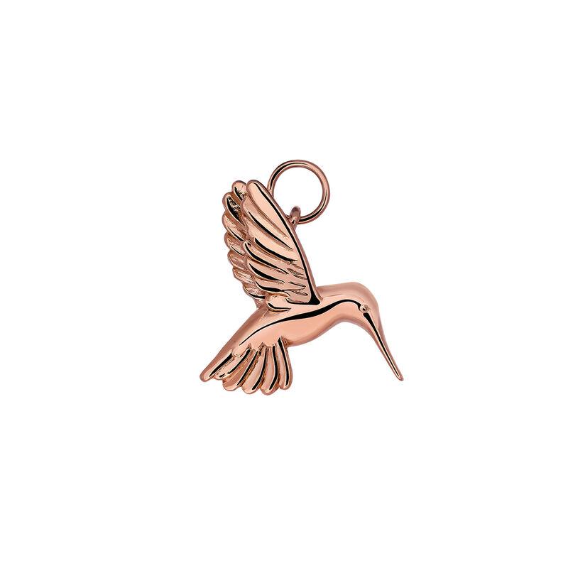 Colgante colibrí plata recubierta oro rosa, J03443-03, hi-res