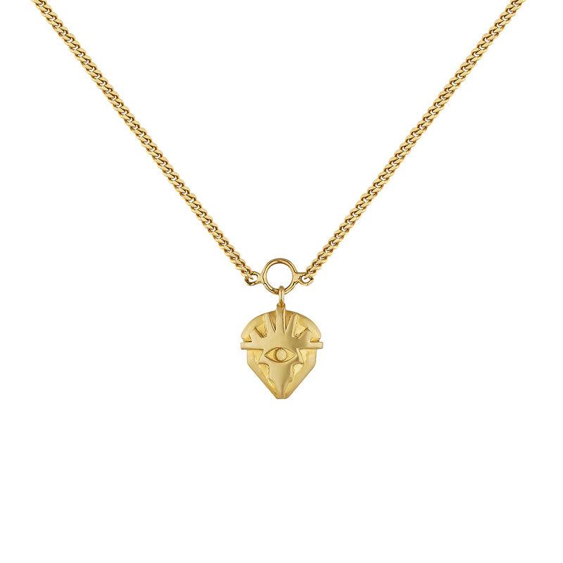 Gold plated motif necklace, J04552-02, hi-res