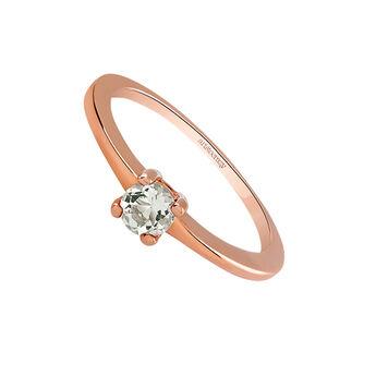 Anillo fino cuarzo plata recubierta oro rosa, J03114-03-GQ, hi-res
