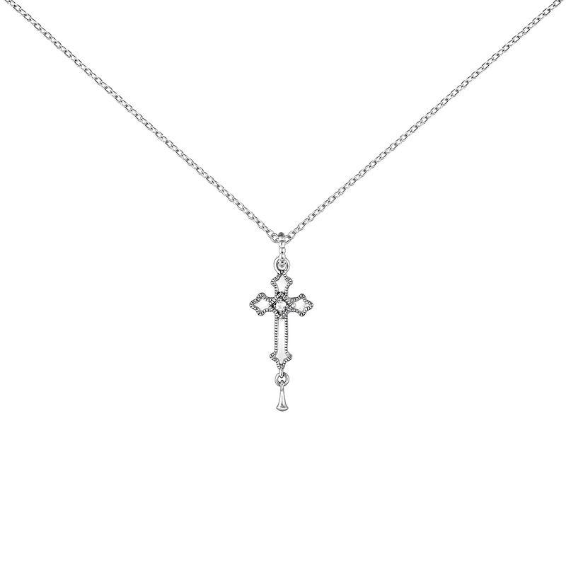 nuevo baratas sitio de buena reputación chic clásico Colgante cruz mediana topacios plata | Aristocrazy