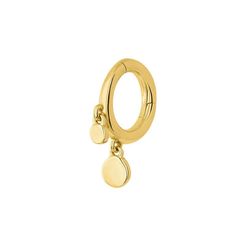 Pendiente aro piercing círculo grande oro 9 kt, J04526-02-H, hi-res