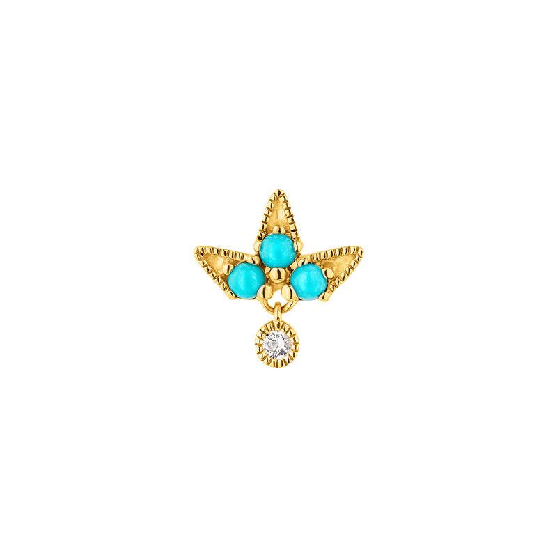 Pendiente motivo piedras oro 9kt, J04699-02-TQ-WS-H, hi-res