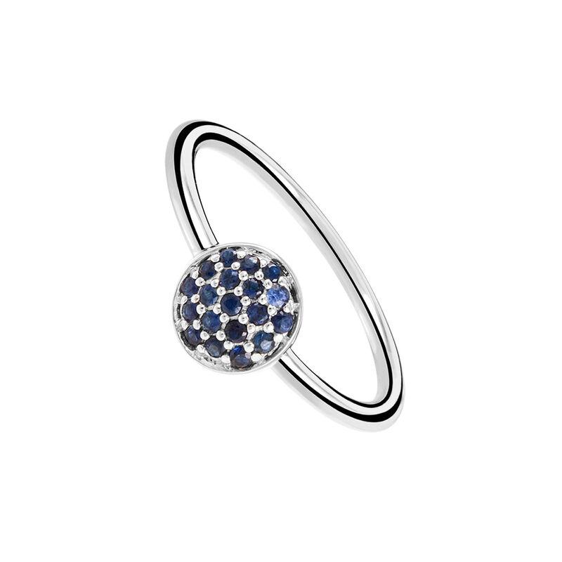 Anillo círculo zafiro plata, J01968-01-BS, hi-res