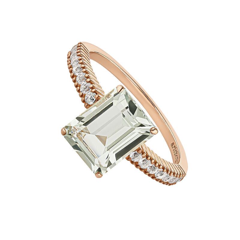 Rose gold plated quartz ring, J04676-03-GQ-WT, hi-res