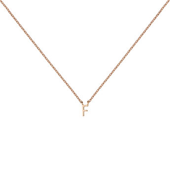 Rose gold Initial F necklace, J04382-03-F, hi-res