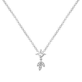 Colgante hoja topacio y diamantes plata, J03717-01-WT-GD, hi-res
