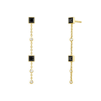 Long earrings spinel and topaz gold, J04090-02-BSN-WT, hi-res