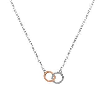Collier double cercle argent, J02079-05, hi-res