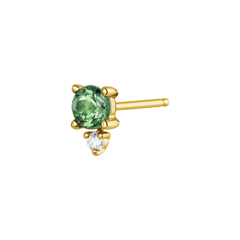 Earrings emerald and diamonds gold, J04073-02-EM-H, hi-res