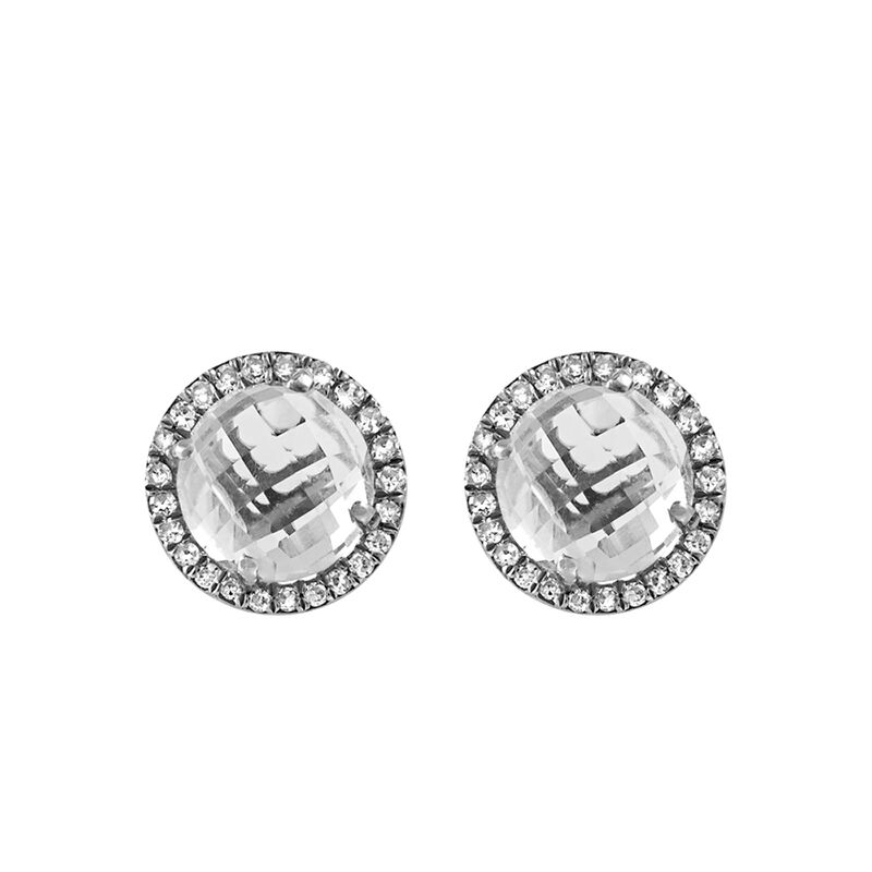 Silver border earrings white topaz, J00818-01-WT-NEW, hi-res