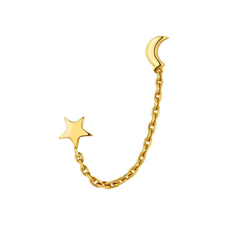 Pendiente colgante estrella y luna plata, J04817-02-H, hi-res