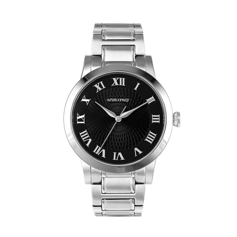 Brera watch bracelet black face., W44A-STSTBL-AXST, hi-res