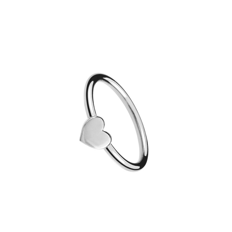 Silver heart ring, J01088-01-NEW, hi-res