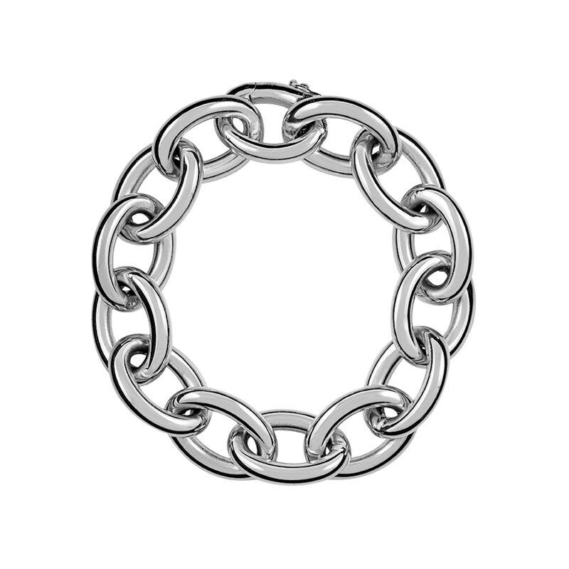 Pulsera forzá oval mediana plata, J00893-01, hi-res