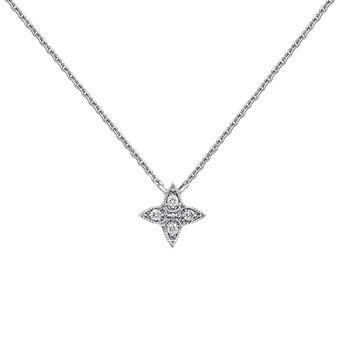 Colgante cruz gotas diamante oro blanco 0,024 ct, J03925-01, hi-res