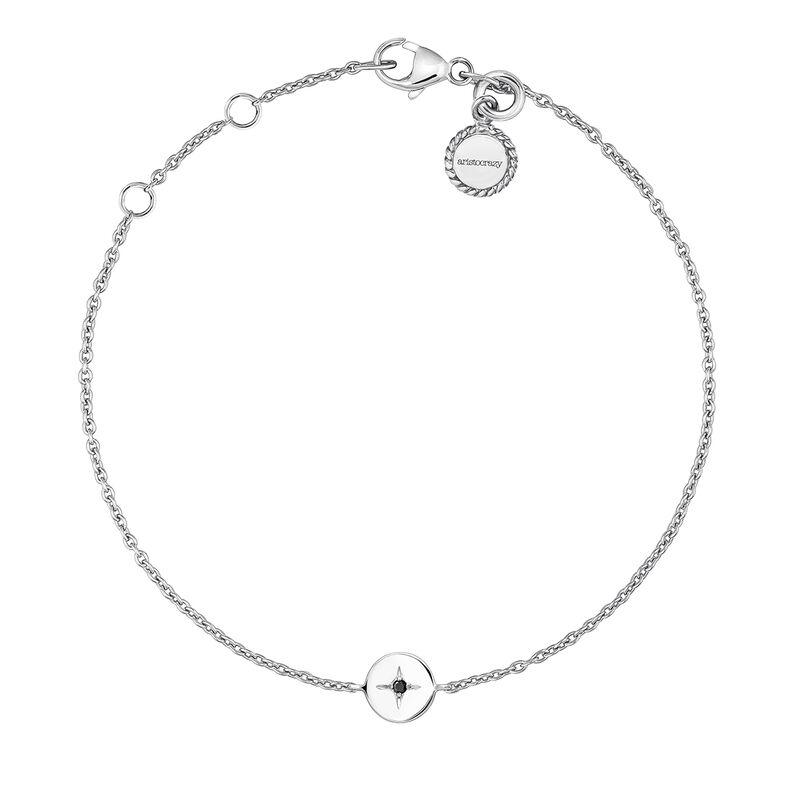 Silver spinel circle bracelet, J03790-01-BSN, hi-res