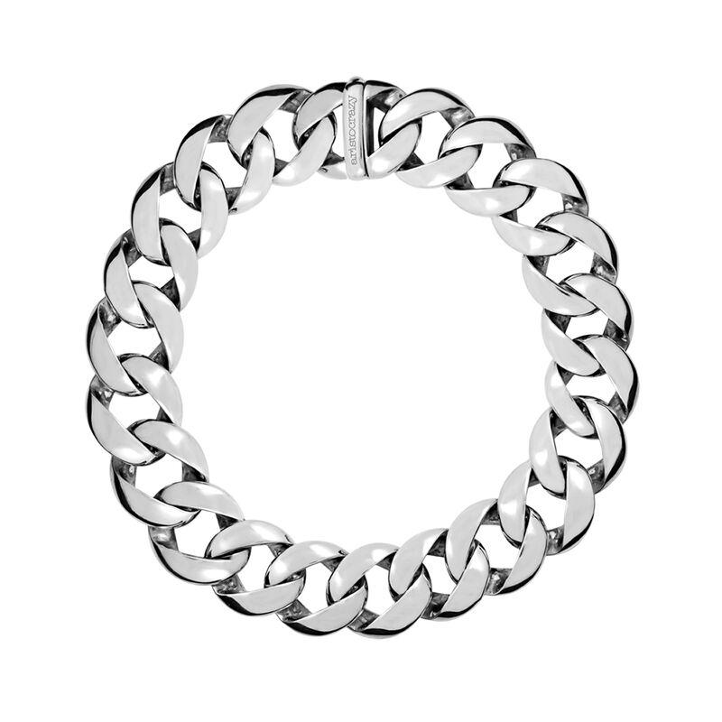 Silver maxi link necklace, J00910-01, hi-res