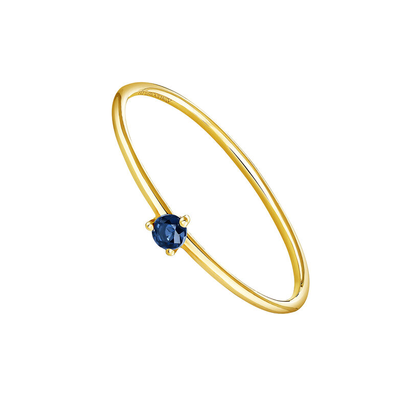 Solitaire ring sapphire gold, J04068-02-BS, hi-res