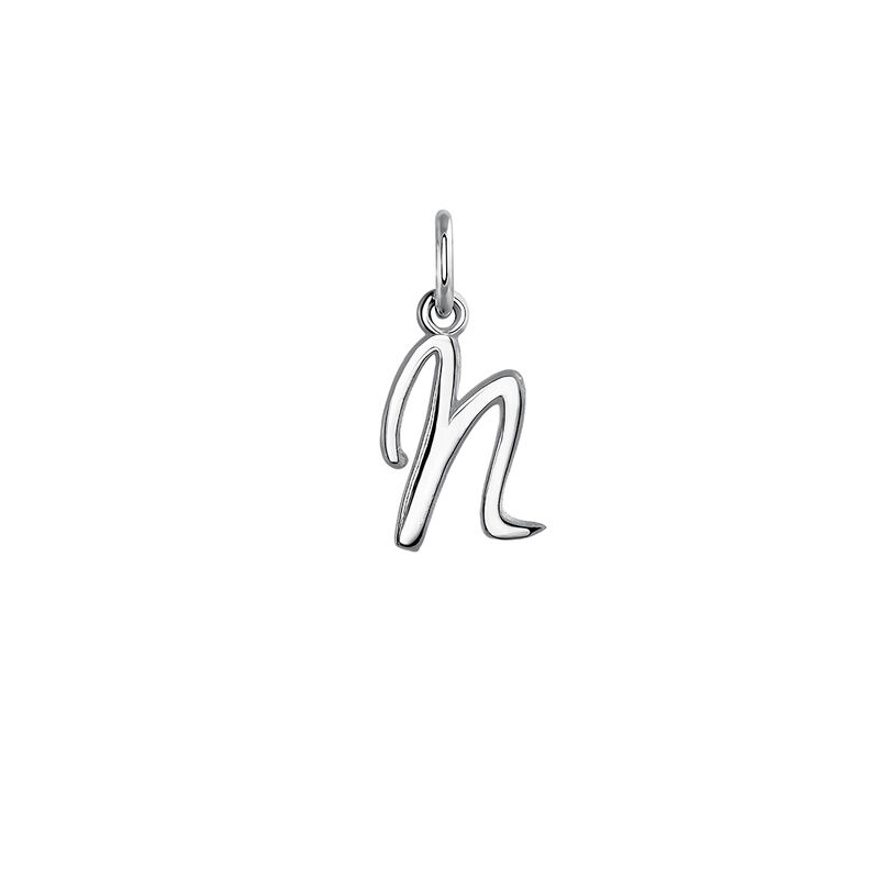Silver initial N necklace, J03932-01-N, hi-res