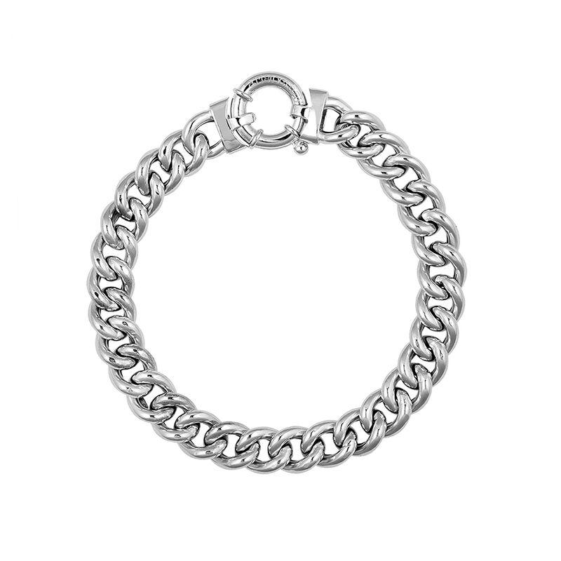 Collar eslabón barbado plata, J01918-01-45, hi-res
