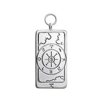 Silver La Rue de la Fortune card pendant, J04043-01, hi-res