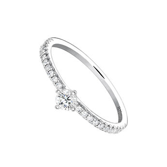 Anillo solitario diamantes 0,17 ct oro blanco, J03933-01-15-17, hi-res
