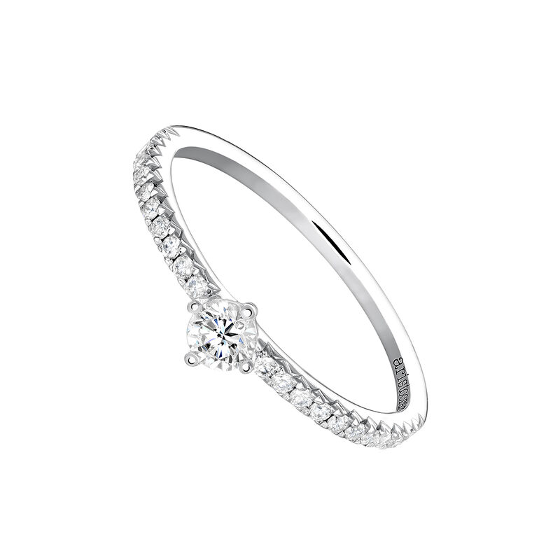 Anillo solitario diamantes 0,17 ct oro blanco, J03933-01-15-17, hi-res