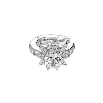 Boucles d'oreille piercing cartilage étoile argent, J03722-01-GD-WT, hi-res