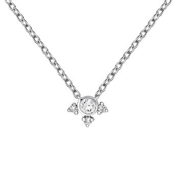 Small silver topaz necklace, J03697-01-WT, hi-res