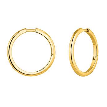 Combinable gold plated hoop earrings, J04643-02, hi-res