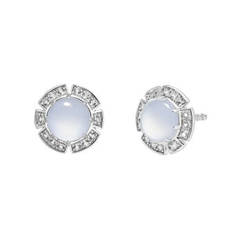 Silver stone earrings, J03493-01-BCWT, hi-res