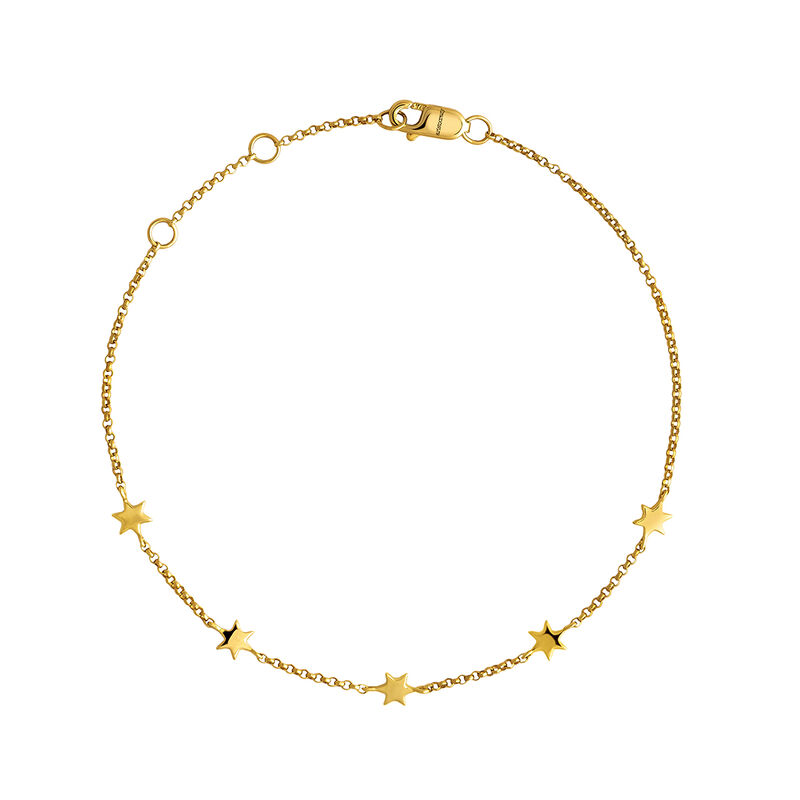Gold bracelet with stars, J04012-02, hi-res