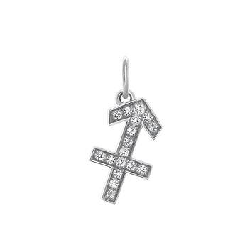 Sagittarius silver pendant, J03606-01-WT, hi-res
