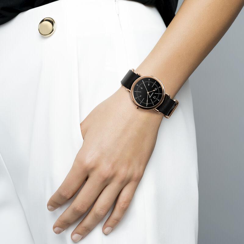 Montre Camps Bay bracelet cuir noir, W49A-PKPKBL-LEBL, hi-res