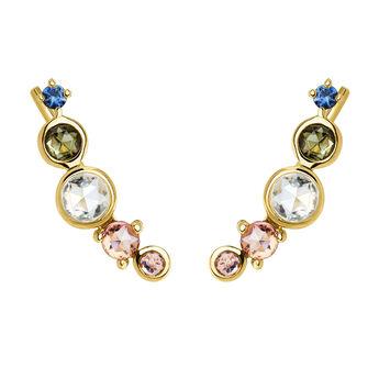 Climber earrings tourmaline gold, J04146-02-BSGTSKYPT, hi-res
