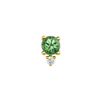 Pendiente esmeralda y diamante oro, J04073-02-EM-H, hi-res