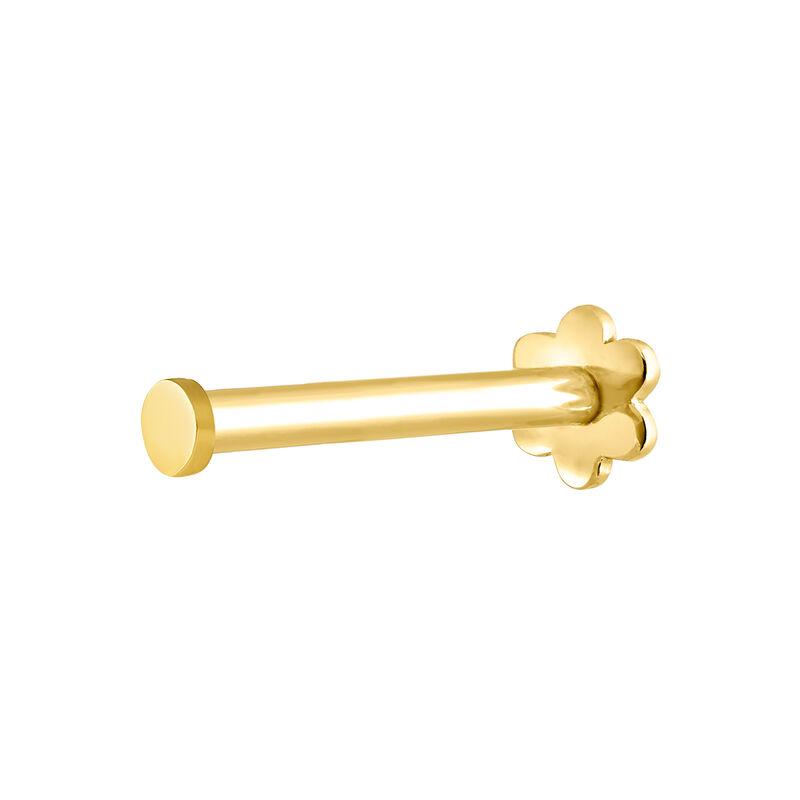 Boucle d'oreille en or jaune de 9 ct avec motif petit cercle, J04523-02-H, hi-res