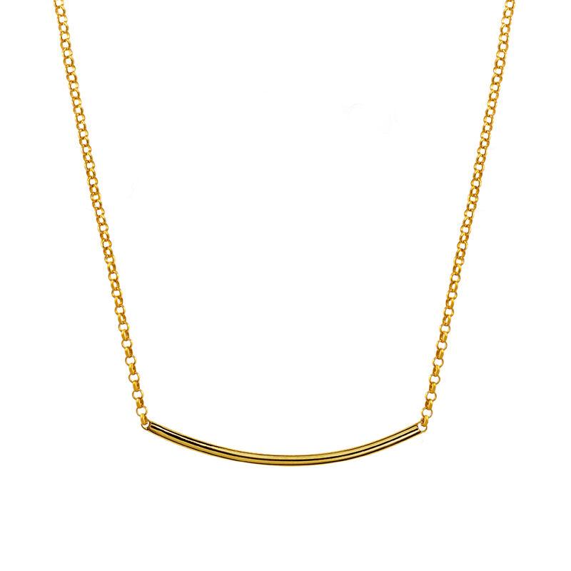 Colgante tubo liso oro, J01945-02, hi-res