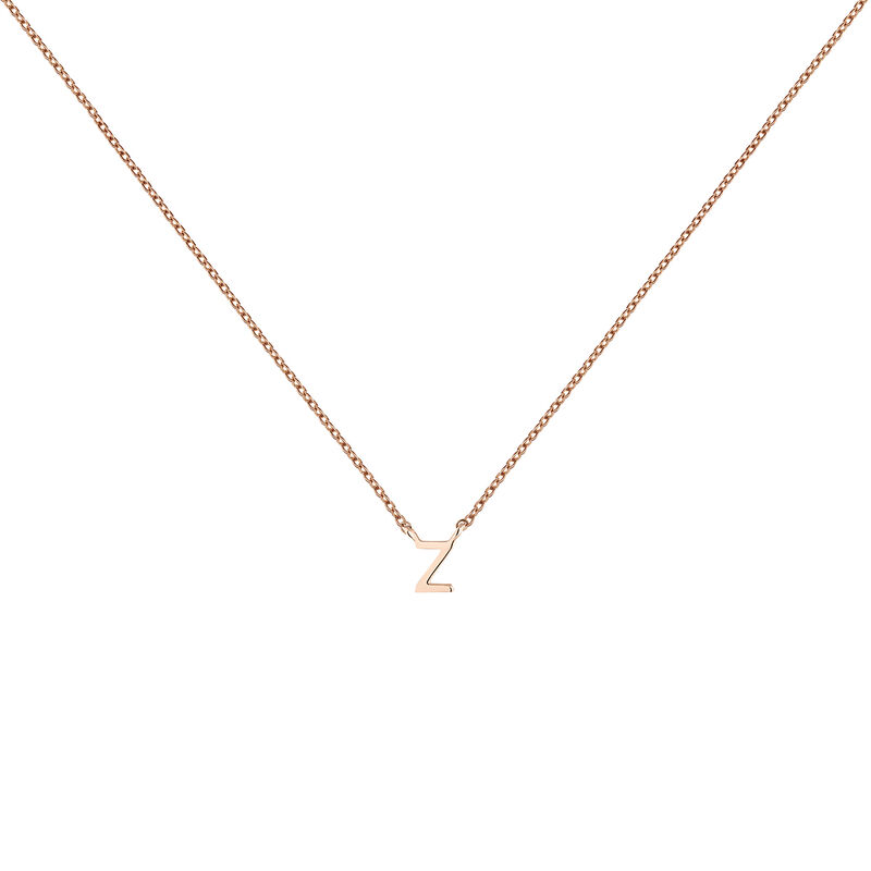 Rose gold Initial Z necklace, J04382-03-Z, hi-res