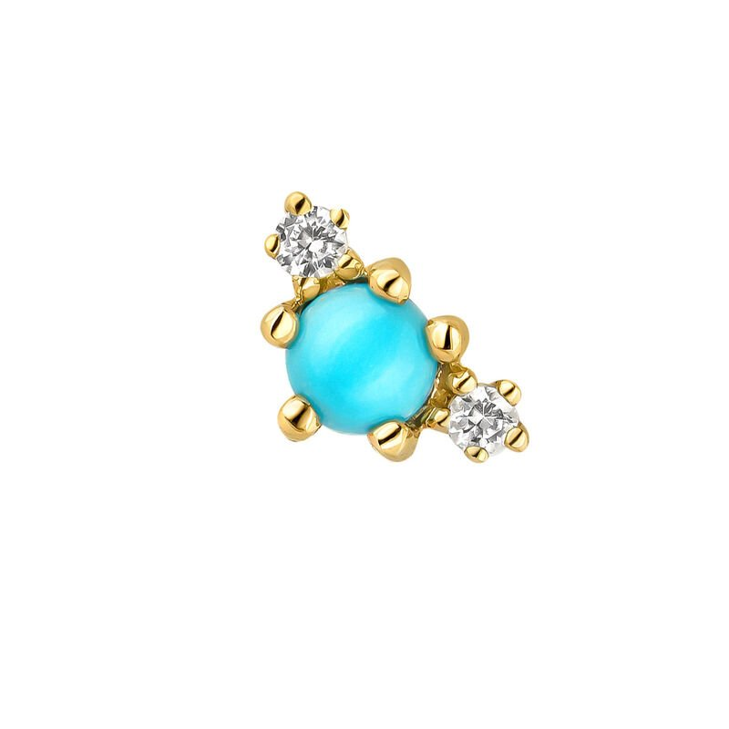 9kt gold turquoise earring, J04692-02-TQ-WS-H, hi-res