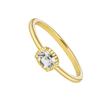 Gold plated topaz center ring, J04664-02-WT, hi-res