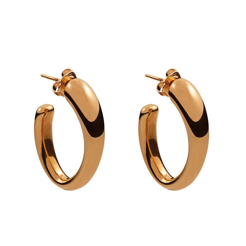 Pendientes ovales medianos oro rosa, J00800-03, hi-res