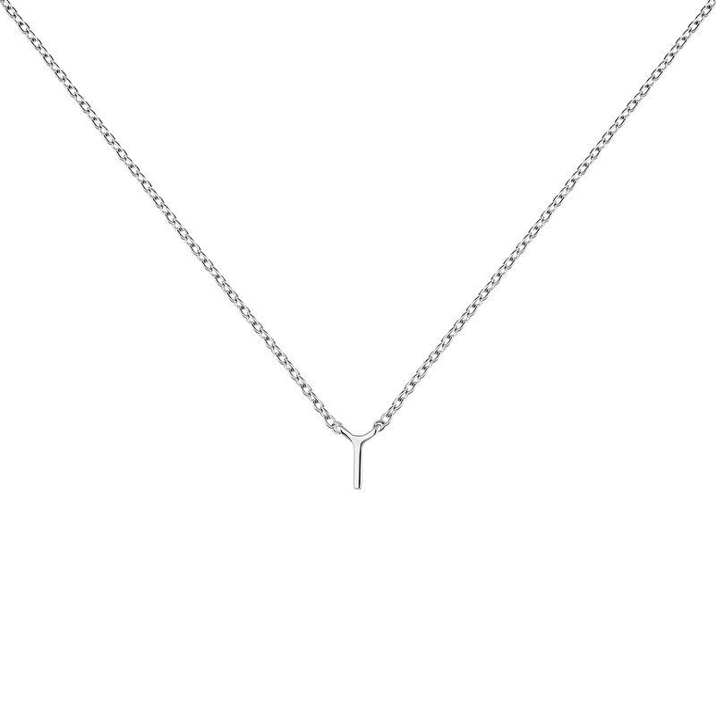 Collar inicial I oro blanco9 kt, J04382-01-I, hi-res