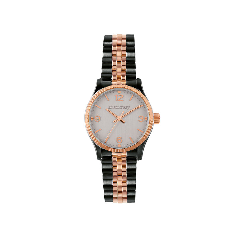 St. Barth watch steel and rose gold