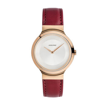 Vesterbro watch red strap, W48A-PKPKGR-LERD, hi-res