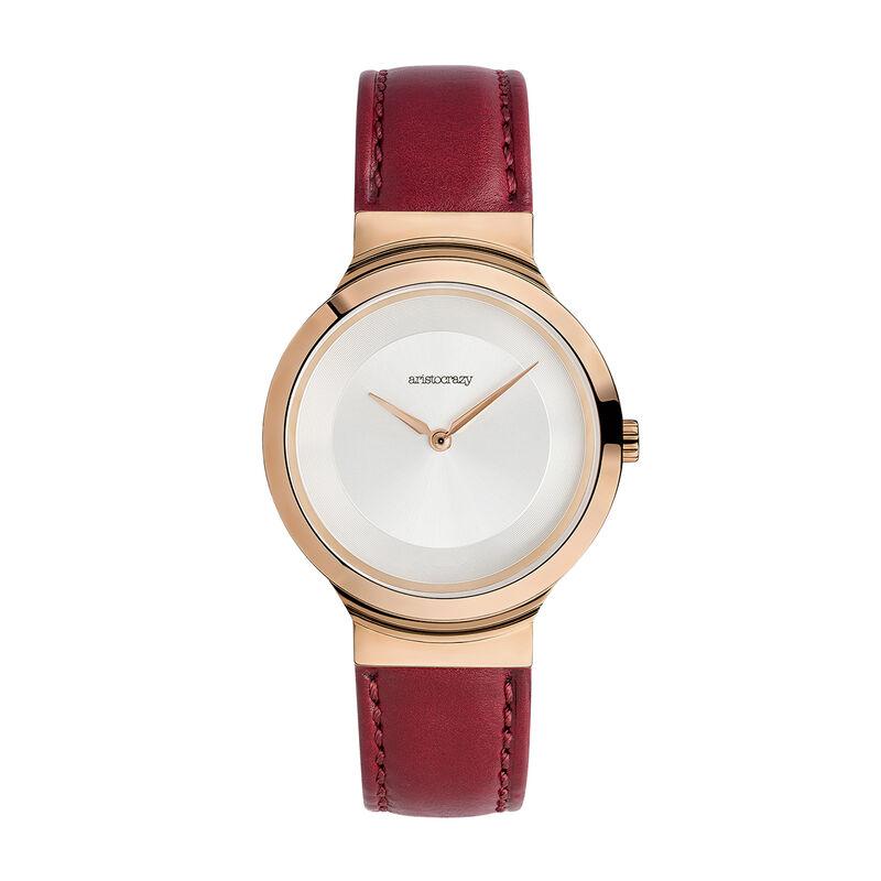 Vesterbro watch red strap, W48A-PKPKGR-LERD, hi-res