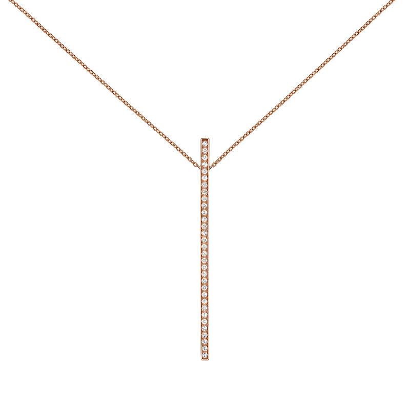 Collar con colgante topacio plata recubierta oro rosa, J04035-03-WT, hi-res