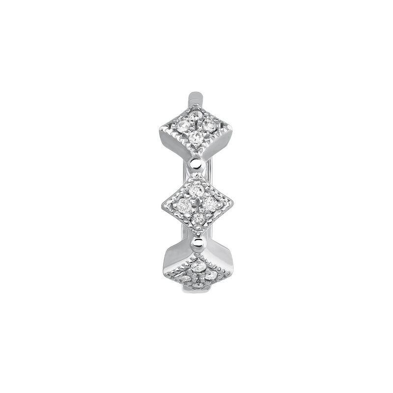 Pendiente de aro motivos vintage plata, J03795-01-GD-H, hi-res